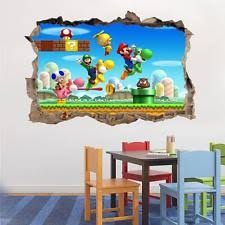 Super Mario Home Decor Giant Super Mario Wall Decals Ebay