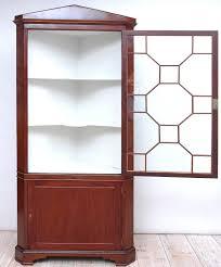 Red Corner Cabinet English Regency Corner Cabinet In Mahogany With Glass Panel Door
