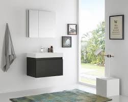 30 Inch Modern Bathroom Vanity by Fvn8007bw Senza Mezzo 30 Inch Black Wall Hung Modern Bathroom