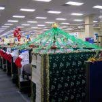 Offers Christmas Decoration Ideas For Office With Cubicle Decorating