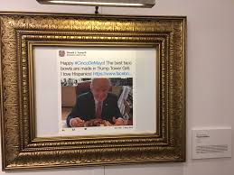 the daily show made a museum of trump tweets for some reason