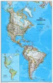 the americas map maps of central america posters at allposters com