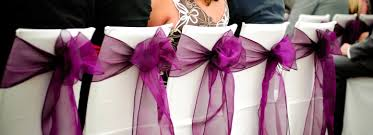 Wedding Chair Sashes Wedding Chair Covers With Cystal Organza Sash Hire Pretty Chairs