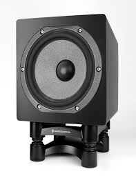 use car subwoofer in home theater isoacoustics iso l8r200 sub acoustic isolation stand for