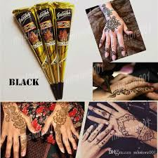 black natural indian henna tattoo paste for body drawing black