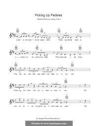 Picking Sheet Picking Up Pebbles Matt Flinders By J Curtis Sheet Music On