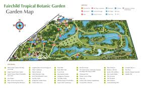 Map Of Miami International Airport by Fairchild Tropical Botanic Garden Botanic Garden