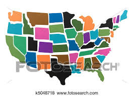 us map puzzle stock illustration of usa map puzzle outline k5048718 search eps