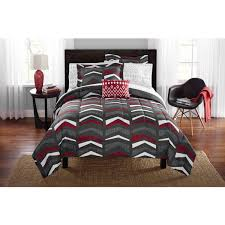 Bed Sheet Sets King by Mainstays Tribal Chevron Bed In A Bag Bedding Set Walmart Com