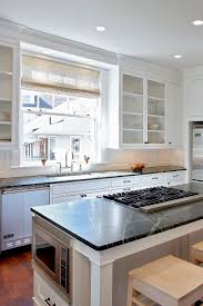 white kitchen cabinets with slate countertops soapstone kitchen countertops ideas gray or green