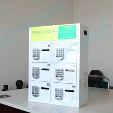 electronic charging station cell phone charging station public electronic 6 bay cell phone