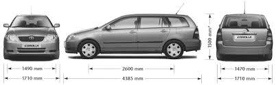 toyota car blueprints die autozeichnungen les plans d