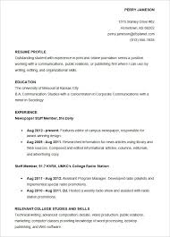 Resume Samples For College Student by Example Of College Student Resume Resume Resume Templates For