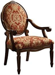 Paisley Accent Chair Amazon Com Classic Accent Curved Arm Paisley Wine Chair Kitchen