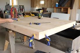Building A Wooden Desk Top by Fence Picket Outdoor Table Top The Wood Grain Cottage