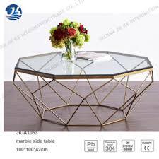 metal frame coffee table china new design polygon marble glass metal frame coffee table