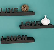 live love laugh wrought studio howton 3 piece live love laugh floating shelf set