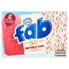 fab birthday cake flavour ice lollies 6x58ml sainsbury u0027s