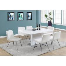 Steel Dining Chairs Monarch Specialties I 1090 High Gloss White 60