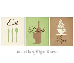modern kitchen artwork amazon com modern kitchen decor eat drink love prints green