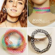 black double choker necklace images Tattoo choker stretch necklace double layer new black retro henna jpg