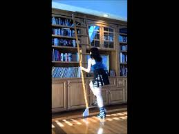 rolling library ladder youtube