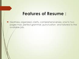 Resume Features Your Way Toward Professional Resume Ppt Video Online Download