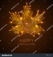 happy thanksgiving day low poly vector stock vector 717493117