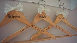 personalised wooden engraved wedding dress hangers personalized