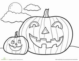 free printable jack o lantern coloring pages preschool halloween worksheets u0026 free printables education com