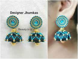threaded earrings designer silk thread earrings tutorial
