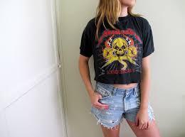 metal band sweaters metallica crop top cropped womens metal rock n roll band shirt
