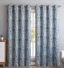 Teal Blackout Curtains Amazon Com Hlc Me Paris Paisley Damask Thermal Blackout Grommet