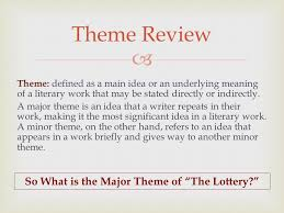 themes in the story the lottery themes symbols motifs you already have learned how to