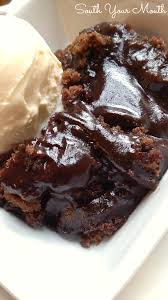 chocolate cobbler with a warm ooey gooey chocolate fudge sauce