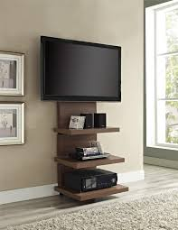Tv Tables Wood Modern Cool Custom Modern Vertical Wood Tv Stands With Floating Display