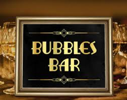 Great Gatsby Themed Party Decorations Open Bar Wedding Sign Great Gatsby Themed Party Supplies