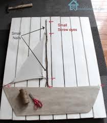 Diy Nautical Decor Make A Sailboat A Large Scale Diy Wall Decor Idea Completely