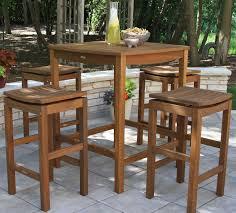 Outdoor Bar Table And Stools Plantation Grown Brazilian Eucalyptus Hardwood Furniture