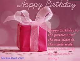 unique gift birthday wishes for sister e card nicewishes