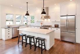 l shaped kitchen design with island 77 refreshing l shaped kitchen designs