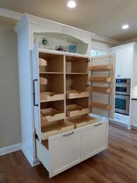 small standalone pantry with doors kitchen cabinets slide out and
