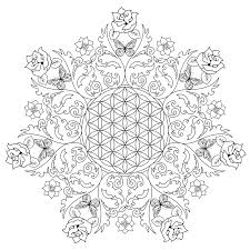 flower mandala coloring pages coloringsuite com