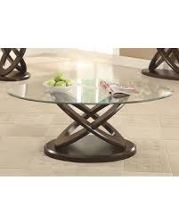 glass top end table with drawer espresso find the best deals on 702788 occasional group oval coffee table