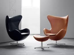 buy fritz egg lounge chair leather at nest co uk