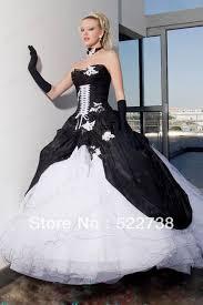 Black And White Wedding Dress Black Wedding Dresses