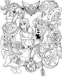 alice wonderland coloring book tim burton pages