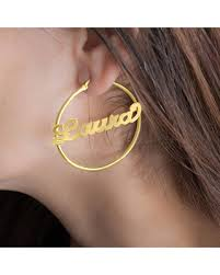 name hoop earrings tis the season for savings on sterling silver personalized name