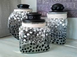 kitchen canister sets black ombre dot glass canister set2 stow tellu