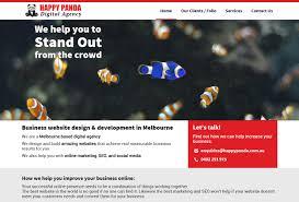 Web Design Home Based Business by Happy Panda Digital Agency Business Website Design In Melbourne